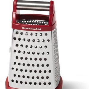 Kitchenaid Box grater with covered container RED